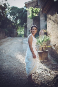 Bride from wedding at Domaine Ribaute