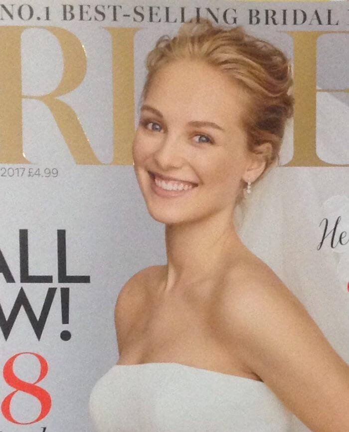 Annette Carr English Hairdresser in France Brides magazine